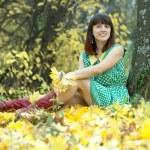 Girl in autumn park — Stock Photo #12495538