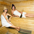 Stock Photo: Young girls at sauna