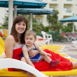 Happy mother with toddler at resort — Stock Photo #12498661