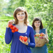 Happy women with harvest — Stock Photo #12500550