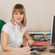 Businesswoman in office — Stock Photo #12502836