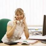 Manager parla al telefono due — Foto Stock