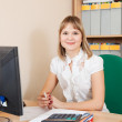Businesswoman working in office room — Stock Photo #12502893