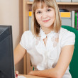 Businesswoman in office — Stock Photo #12502907