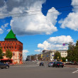 Kremlin street at Nizhny Novgorod in summer — Stock Photo