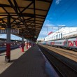 Platforms in Moskovsky Rail Terminal — Stock Photo