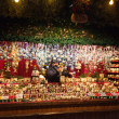 Kiosk with Christmas toys and gifts — Stok Fotoğraf #12504644