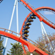 Roller coaster at Port Aventura park, Spain - Foto Stock