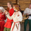 Celtic dances - 图库照片