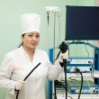 Stock Photo: Doctor with endoscope