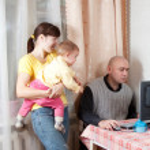 člověk pracuje doma — Stock fotografie #12508766