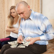 Family quarrel over money — Stock Photo #12509067