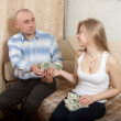 Financial problems in family — Stock Photo #12509070