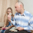 Family quarrel over money — Stock Photo