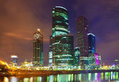 Moscow business centre in summer night — Stock Photo