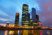 Moscow business centre in summer morning — Stock Photo