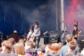 "Rock band ""Reykjavik"" appeares in the open air — Stockfoto"