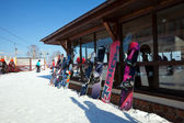 The ski resort Puzhalova Gora — Stock Photo