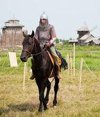 Horse knights — Stock Photo