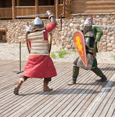 Batalla de los caballeros — Foto de Stock