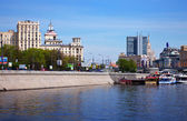 View of Moscow. Borodinsky Bridge — Stock Photo