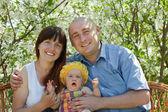 Genitori felici con il bambino — Foto Stock