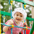 Two-year child at playground area — Stockfoto