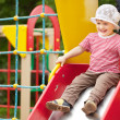 ������, ������: Happy two year child on slide