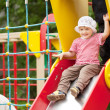 ������, ������: Two year child on slide