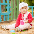 Two-year child in sandbox — Stock Photo #12517037