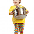 Baby cook with pan — Stock Photo #12517353