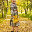 Senior woman n autumn — Stock Photo
