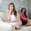 Women having quarrel at home — Stock Photo