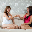 Stock Photo: Women having reconciliation