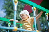 Two-year child at playground area — Stock Photo