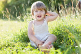 Two-year baby girl in summer — Stock Photo