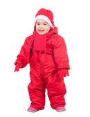 Happy toddler in wintry clothes — Stock Photo