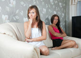 Women having quarrel at home — Stock Photo