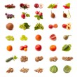 Stock Photo: Isolated fruit and vegetable set