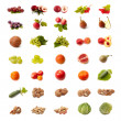 Isolated fruit and vegetable set — Stock fotografie