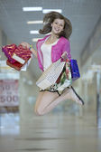 The joy of shopping — Stock Photo