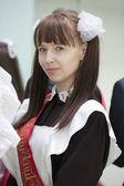 Afstuderen - schoolmeisje — Stockfoto