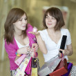 Two girlfriends with shopping bags — Stock Photo #11279116