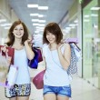 Two girlfriends with shopping bags — Stock Photo #11279192