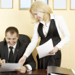 Secretary and her boss — Stock Photo #11280940