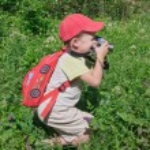Small photographer — Stock Photo
