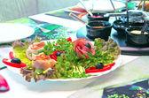 Strona serwowane z fondue — Zdjęcie stockowe