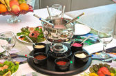 """Partido acompañado de una """"fondue — Foto de Stock"""