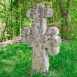 Stock Photo: Ancient headstone as cross