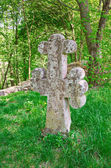 Ancient headstone as cross — Stock Photo